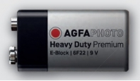 Батарейка AGFAPHOTO HeavyDuty  Battery 9V/Крона, 1 шт
