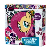 "Пазл My Little Pony 64А ""Флаттершай""+фигурка с магнитиком"